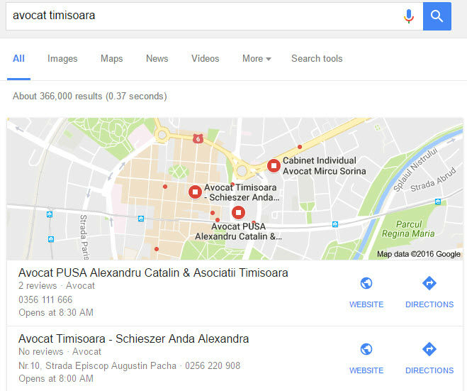 optimizare seo locala maps
